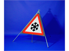 Ice roll up road sign