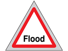 Flood roll up road sign