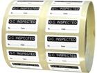 Q.C. Inspected label.