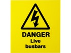Danger live busbars label