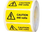Caution 440 volts label.