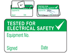 Tested for electrical safety jumbo write and seal labels.