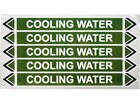 Cooling water flow marker label.