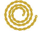 Brass jack chain.