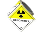 Radioactive, class 7, hazard diamond label