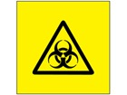 Biological hazard symbol labels.