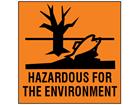 Hazardous for the environment label (Chip)