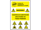 COSHH. Storage of hazardous substances sign.