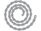 Zinc plated steel jack chain.
