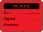 Installed fluorescent label