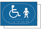 Children/Disabled toilet sign.