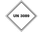 UN 3089 (Metal powder, flammable) label.