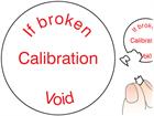 If broken calibration void label