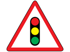 Traffic signals sign