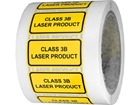 Class 3B laser equipment warning safety label.