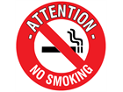 Attention no smoking floor marker