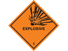 Explosive, class 1, hazard diamond label