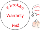 If broken warranty void label