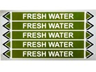 Fresh water flow marker label.