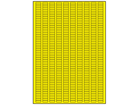 Yellow polyester laser labels, 5mm x 15mm