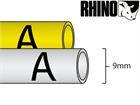 Dymo Rhino heat shrink tube tape (9mm)