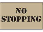No stopping heavy duty stencil