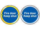 Fire door keep shut symbol door sign.