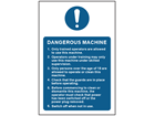 Dangerous machine safety sign.