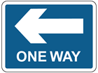 Left only (One way) sign