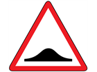 Road humps sign