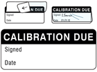 Calibration due write and seal labels.