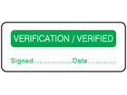 Verification verified label