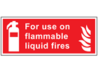 For use on flammable liquids symbol and text sign