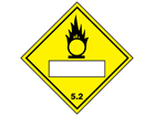 Oxidiser, oxidising agent 5.2, hazard diamond label (with write on panel)