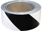 Safety and floor marking tape, black and white chevron.