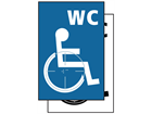 WC disabled symbol sign.