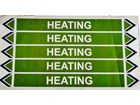Heating flow marker label.