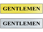 Gentlemen public area sign