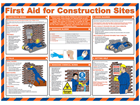 First aid for construction sites poster.