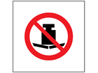 No heavy load symbol safety sign.