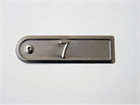Embossed Tinplate Tags, 20mm x 75mm