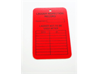 Ladder inspection record tag.