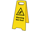 A-board, warning wet floor