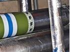 F pipeline identification tape.