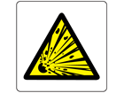 Caution risk of explosion symbol label.