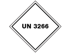 UN 3266 (Corrosive liquid, basic, inorganic) label.