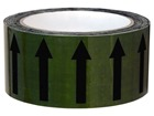 Flow indication tape for water