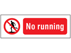 No running safety sign.
