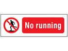 No running safety sign.
