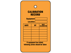 Calibration record tag.